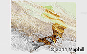 Physical Panoramic Map of Sud Yungas, lighten