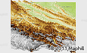 Physical Panoramic Map of Sud Yungas