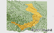 Savanna Style Panoramic Map of Sud Yungas