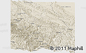 Shaded Relief Panoramic Map of Sud Yungas