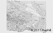 Silver Style Panoramic Map of Sud Yungas