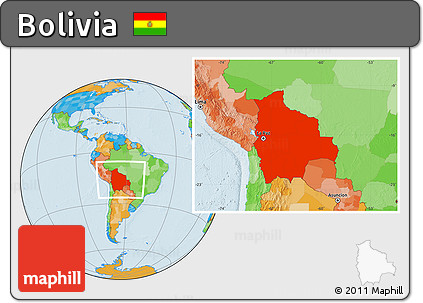 Free Political Location Map of Bolivia