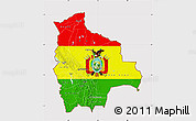 Flag Map of Bolivia, flag centered