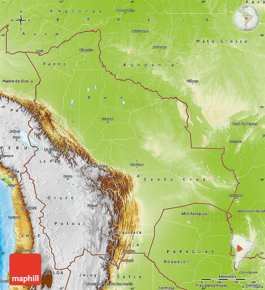 geographical map of bolivia - photo #8