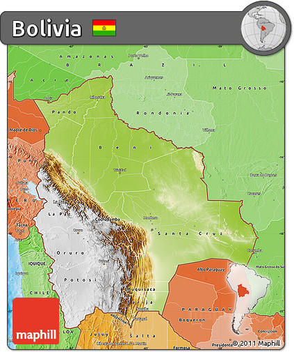 geographical map of bolivia - photo #30