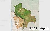 Satellite Map of Bolivia, lighten