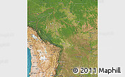 Satellite Map of Bolivia