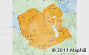 Political Shades Map of Oruro, lighten