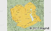 Savanna Style Map of Oruro