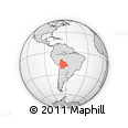 Outline Map of Bolivia