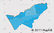 Political Shades Map of Pando, cropped outside
