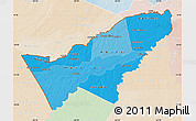 Political Shades Map of Pando, lighten