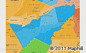 Political Shades Map of Pando