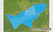 Political Shades Map of Pando, satellite outside