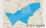Political Shades Map of Pando, shaded relief outside
