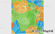 Political Shades 3D Map of Potosi