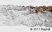 Physical Panoramic Map of Chayanta