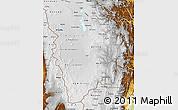 Physical Map of Potosi