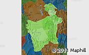 Political Shades Map of Potosi, darken