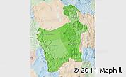 Political Shades Map of Potosi, lighten