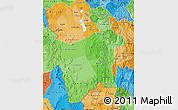 Political Shades Map of Potosi