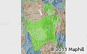 Political Shades Map of Potosi, semi-desaturated