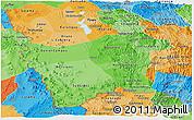 Political Shades Panoramic Map of Potosi