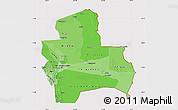 Political Shades Map of Santa Cruz, cropped outside