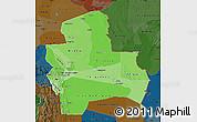 Political Shades Map of Santa Cruz, darken
