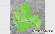 Political Shades Map of Santa Cruz, desaturated