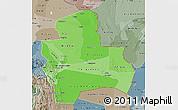Political Shades Map of Santa Cruz, semi-desaturated