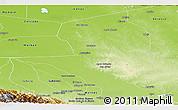 Physical Panoramic Map of Nuflo de Chavez