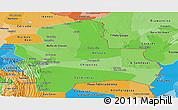 Political Shades Panoramic Map of Santa Cruz