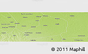 Physical Panoramic Map of Warnes