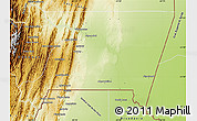 Physical Map of Gran Chaco