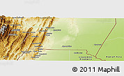 Physical Panoramic Map of Gran Chaco