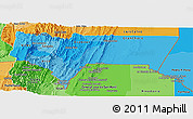 Political Shades Panoramic Map of Tarija