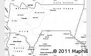 Blank Simple Map of Tarija