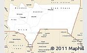 Classic Style Simple Map of Tarija