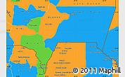 Political Simple Map of Tarija