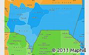 Political Shades Simple Map of Tarija