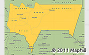 Savanna Style Simple Map of Tarija