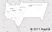 Silver Style Simple Map of Tarija, cropped outside