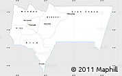 Silver Style Simple Map of Tarija, single color outside
