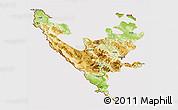 Physical 3D Map of Federacija Bosne i Hercegovine, cropped outside