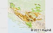 Physical 3D Map of Federacija Bosne i Hercegovine, lighten