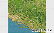 Satellite 3D Map of Federacija Bosne i Hercegovine