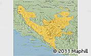 Savanna Style 3D Map of Federacija Bosne i Hercegovine