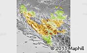 Physical Map of Federacija Bosne i Hercegovine, desaturated