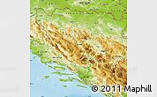 Physical Map of Federacija Bosne i Hercegovine